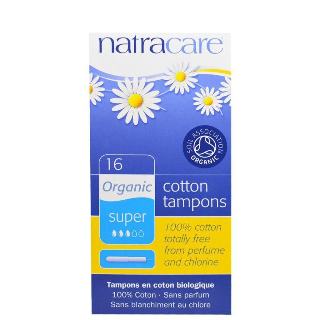 Organic tampons with applicator, super
