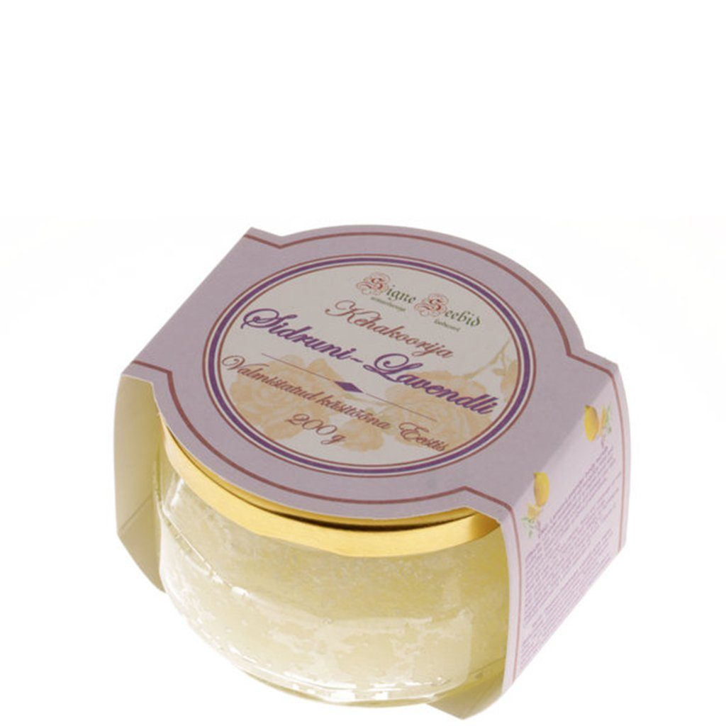 Lavender and lemon body scrub
